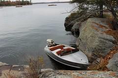 1958 Feathercraft Vagabond Boat in Mactier Ontario 2015 (southofbloor) Tags: feathercraft vagabond vintage boat 1958