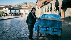 Streets of Peru (Sony J Thomas) Tags: street vendor cusco city square light travel peru architecture