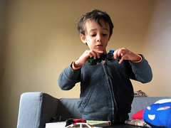 Ezra plays with Matchbox Cars from Rosemary (brownpau) Tags: iphonex canada novascotia matchbox toys ezra ezraordo