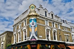 Fin Dac, London, UK (Robby Virus) Tags: london england britain uk unitedkingdom greatbritain british gb street art fin dac artist mural mask pray hands