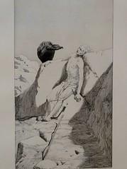 Wanderer's end (Plate 7 of Radierte Skizzen, Max Klinger, 1879) (Nemoleon) Tags: museumderbildendenkünste june 2019 maxklinger dsc02565 etching vultures