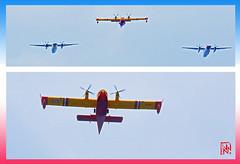 L'avion bombardier d'eau (ABE) est utilisé pour la lutte contre les feux de forêts. (mamnic47 - Over 10 millions views.Thks!) Tags: 14072019 défiléaerien ladéfense neuillysurseine avions hélicoptères 6c8a9992 collage canadaircl415