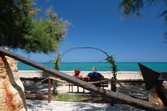 Staring at the sea (filippo rome) Tags: trani puglia apulia italy italia sea mare summer park parco colors colori salento