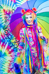 Fairal Cat (Tom Fenske Photography) Tags: ocf feral cat colorful model performer woman 50 50thanniversary fair festival wild crazy color