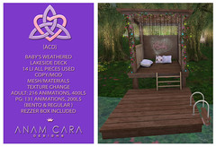 {ACD} Baby's Weathered Lakeside Deck ({ACD} Anam Cara Designs) Tags: {acd} {acd}anamcaradesigns anamcaradesigns second life sl shopping home decor deck outdoors virtualworld babygirl swimming diving cuddles flowers romantic romance hangout fun summer