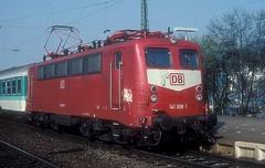 141 308  Bensheim  12.03.97 (w. + h. brutzer) Tags: bensheim eisenbahn eisenbahnen train trains deutschland germany railway elok eloks lokomotive locomotive zug db e41 141 webru analog nikon albumhubertboob