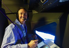 The Eagle has Landed — in the world's largest motion flight simulator at NASA (jurvetson) Tags: nasa ames vms vertical motion simulator apollo lm lunar module altair