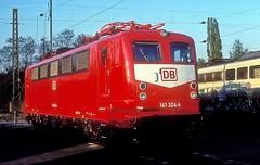 141 324  Gremberg  21.04.97 (w. + h. brutzer) Tags: gremberg eisenbahn eisenbahnen train trains deutschland germany railway elok eloks lokomotive locomotive zug db e41 141 webru analog nikon albumhubertboob