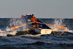 HITTING THE WAVES (MIKECNY) Tags: lifeguard boat waves water ocean capemaycounty lifeguardchampionships row battle singlesrow newjersey stoneharbor shbp