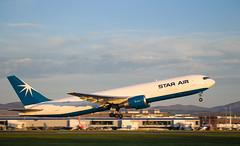 OY-SRU Boeing 767, Edinburgh (wwshack) Tags: b767 boeing boeing767 edi egph edinburgh edinburghairport maersk scotland starair turnhouse aircargo airfreight oysru