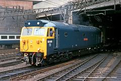 24/05/1981 - Birmingham (New Street). (53A Models) Tags: britishrail englishelectric type4 class50 50001 dreadnought diesel birmingham newstreet westmidlands train railway locomotive railroad