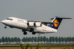 D-AVRH (PlanePixNase) Tags: amsterdam ams eham schiphol planespotting airport aircraft british aerospace avro rj85 lufthansa