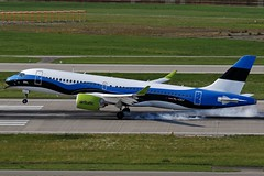 YL-CSJ ZRH 14.07.2019 (Benjamin Schudel) Tags: estonian flag livery airbus a220300 bombardier cs300 air baltic ylcsj zrh lszh zurich international airport switzerland swiss