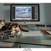 My desk.....and the summer rest place of my cat Yumi