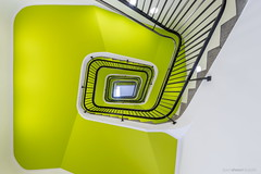 The Lime Climb (bjoernahrensfotografie) Tags: munich münchen architektur architecture lookup minimal abstract spiral stairs staircase treppe treppenhaus escalier lime canon canoneosr