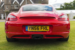 Backend (syf22) Tags: car automobile auto autocar automotor vehicle motor motorcar motorised sportscar transport pcgb pcgbscottishregion porsche porscheclubgb porsches flatsix flat6 engine midengine rear rearend cayman 987 red guardsred germanmade madeingermany hardtop