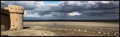 StMichel_pan_004 (.MLN) Tags: france normandy montsaintmichel fields sandfields clouds