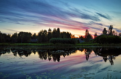 Once in the evening... Mirror :-) (L.Lahtinen (nature photography)) Tags: lake sunset finland evening reflections