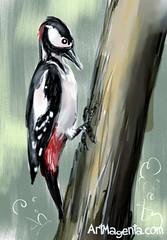Great Spotted Woodpecker (Z0284) #bird #birding #ig_birds #artworks #art #arts_gallery #fågel #sketch #birdphotography #instadraw #birdpainting #birdfreaks #animalartist #inspiration #best_birds_of_ig #artofinstagram #your_best_birds #drawings #birdsofins (ArtMagenta) Tags: birds birding birdwatching birdpainting