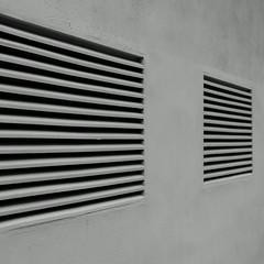 Prospettiva. Perspective B&W (sandroraffini) Tags: minimalism minimalismo bw abstract reality prospettiva perspective lines moche windows bars essential urban exploration valencia barrio warehouse magazzino fragment street calle strada detail detalle sony rx100 sandroraffini spagna muro wall