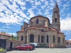 St Leonard de Noblat, Haute Vienne, apse (surreydock) Tags: iphone romanesque chiurch unesco tower apse medieval clouds france limousin hautevienne saint pilgrimage chemindepèlerinage