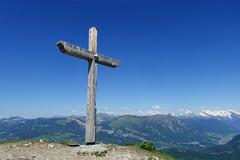 Summit cross @ Hike to Le Môle (*_*) Tags: hiking mountain montagne nature randonnee summit sommet trail sentier walk marche europe france hautesavoie 74 chablais cluses savoie 2019 spring printemps afternoon june lemole catholic christian chretien cross croix