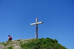 Cross @ Hike to Le Môle (*_*) Tags: hiking mountain montagne nature randonnee summit sommet trail sentier walk marche europe france hautesavoie 74 chablais cluses savoie 2019 spring printemps afternoon june lemole catholic christian chretien cross croix