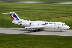 F-GLIT (PlanePixNase) Tags: aircraft airport planespotting haj eddv hannover langenhagen airfrance fokker 70 f70 regional