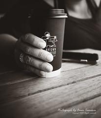 Uptown Espresso (oterrason) Tags: cafe coffeeshop espresso uptownespresso seattle magnolia washington drink beverage refreshment caffeine cup table outdoors fuji phone appleiphonexs fujinonxf16mmf14rwr fujifilmxt2