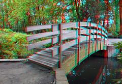 WeiWei Ai Brug Middelheimpark 3D (wim hoppenbrouwers) Tags: weiweiai brug middelheimpark 3d anaglyph stereo redcyan