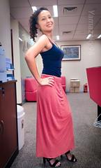 at the office (Yamazaky96) Tags: beauty asian pinay chinese office pretty model long dress