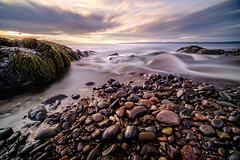 the pull of the tide (Port View) Tags: fujixe3 rosscreek novascotia ns canada cans2s 2019 summer tide tidal water flow bay bayoffundy fundy fundyshore rock rocks rocky evening sky longexposure le color colour landscape seascape laowa9mm