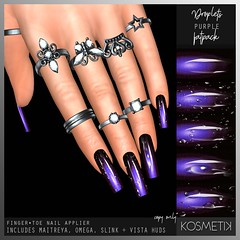 K O S M E T I K Nail Applier - Droplets Purple (.kosmetik) Tags: kosmetik newrelease nails nail nailapplier new maitreya mainstore slink omega vista fatpack
