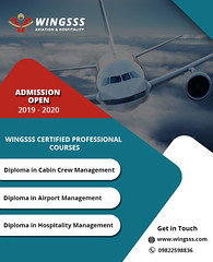 Wingsss Certified Professional Courses (Wingsss Aviation) Tags: airport management personality development course ground staff services