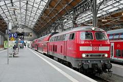 P1870780 (Lumixfan68) Tags: eisenbahn züge loks baureihe 218 dieselloks deutsche bahn db regio doppelstockzüge sprinter
