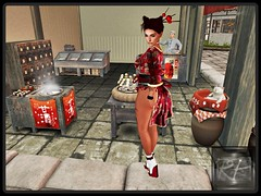 asian market (RedPoison003) Tags: asian japanese japan eat shop traditional look catwa matreya sexy market food secondlife avatar virtual virtuell red redpoison003 luas
