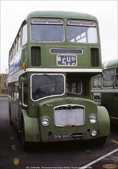 Withdrawn 7214,  DHW 984C, Winterstoke Road Depot, Bristol, March 6th 1984 (Bristol RE) Tags: 7214 dhw984c bristolomnibus citybus bristol lodekka ecw flf flf6g winterstokeroaddepot withdrawn