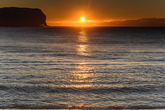 Sunrise Seascape (Merrillie) Tags: daybreak sunrise nature water waves sea macmasters centralcoast newsouthwales rocks earlymorning nsw morning beach ocean dawn waterscape landscape coastal macmastersbeach outdoors seascape australia coast sky seaside