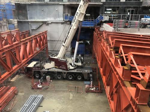 Crane in pit