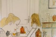 Birdhouse cafe 16-07-19 (Utopist) Tags: watercolour watercolor birdhouse cafe st johns hill clapham junction