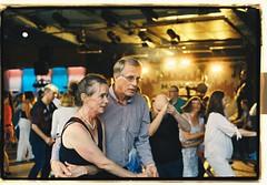 Concentrated dancers at Galejan, Skansen. (John_Lundhgren) Tags: k1000 pentax film kodak dance people