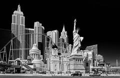 New York New York (Preston Ashton) Tags: new york las vegas sky bw white newyork black monochrome statue liberty hotel day casino roller statueofliberty coaster newyorknewyork lv prestonashton