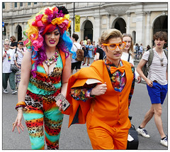 Why are people looking at us? (donbyatt) Tags: london trafalgarsquare londonpride 2019 lgbt colour parade people candids street