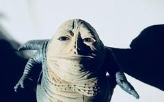 Jabba The Hutt - Star Wars 1997 Revisionist Film 5893 (Brechtbug) Tags: jabba the hutt star wars 1977 retooling figures scifi science fiction creature monster action figure toy toys spaceship 2019 kenner type threepio giant lizard thug boss gangster slug metropolis robot droid android humpty dumpty ish return jedi