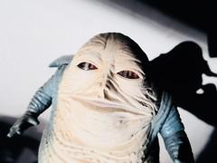 Jabba The Hutt - Star Wars 1997 Revisionist Film 5883 (Brechtbug) Tags: jabba the hutt star wars 1977 retooling figures scifi science fiction creature monster action figure toy toys spaceship 2019 kenner type threepio giant lizard thug boss gangster slug metropolis robot droid android humpty dumpty ish return jedi