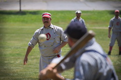 Vintage Baseball, Cantigny Park. 47 (EOS) (Mega-Magpie) Tags: canon eos 60d outdoors sprots game vintage baseball cantigny park wheaton dupage il illinois usa america people person guy man dude fella bat ball