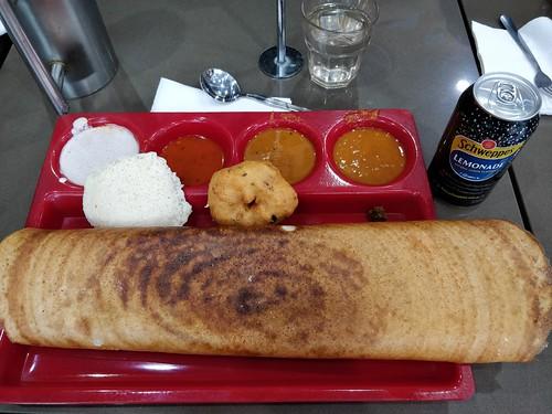 Lamb dosa, vada, idli lunch set with soft drink AUD13 - Dosa Corner, Melbourne - op5