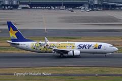 B737 JA73NR SKYMARK special colours 1 (shanairpic) Tags: jetairliner passengerjet b737 boeing737 tokyo haneda skymark specialcolours n73nr