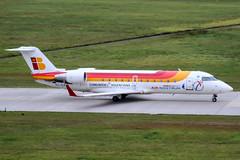 EC-ILF (PlanePixNase) Tags: aircraft airport planespotting haj eddv hannover langenhagen airnostrum canadair crj crj200 crj2 iberia
