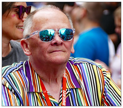 A moment to reflect (donbyatt) Tags: london trafalgarsquare londonpride 2019 lgbt colour parade people candids street